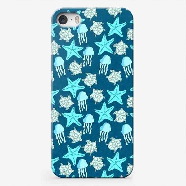 Чехол iPhone «Морские обитатели»