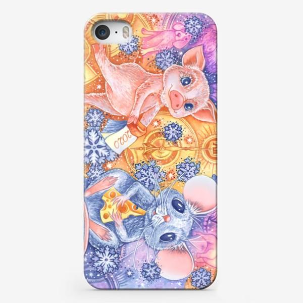 Чехол iPhone «Новогодняя карусель»