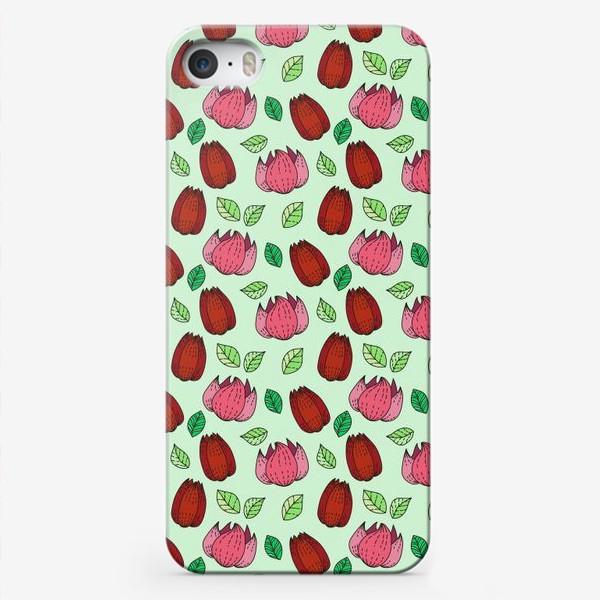 Чехол iPhone «Тюльпаны и лотосы»