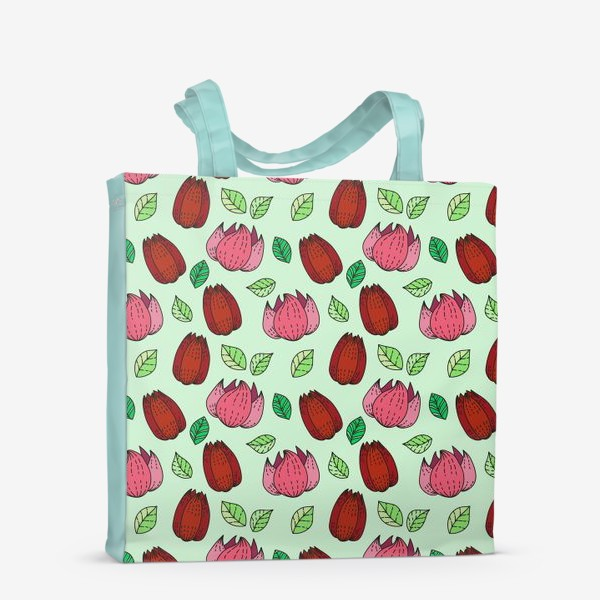 Сумка-шоппер «Тюльпаны и лотосы»