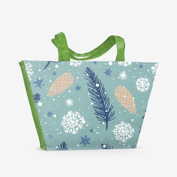 Пляжная сумка «Нежное Рождество»