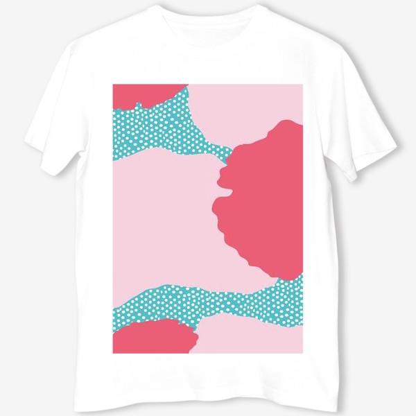 Футболка «абстрактный фон розовые пятна»