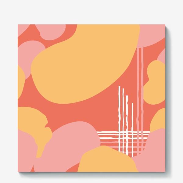 Холст «абстрактный фон пятна и линии»