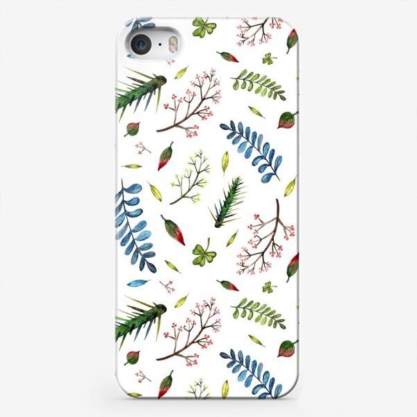 Чехол iPhone «Паттерн Листья и ветки»