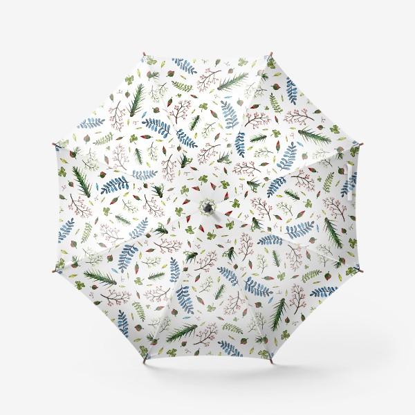 Зонт «Паттерн Листья и ветки»