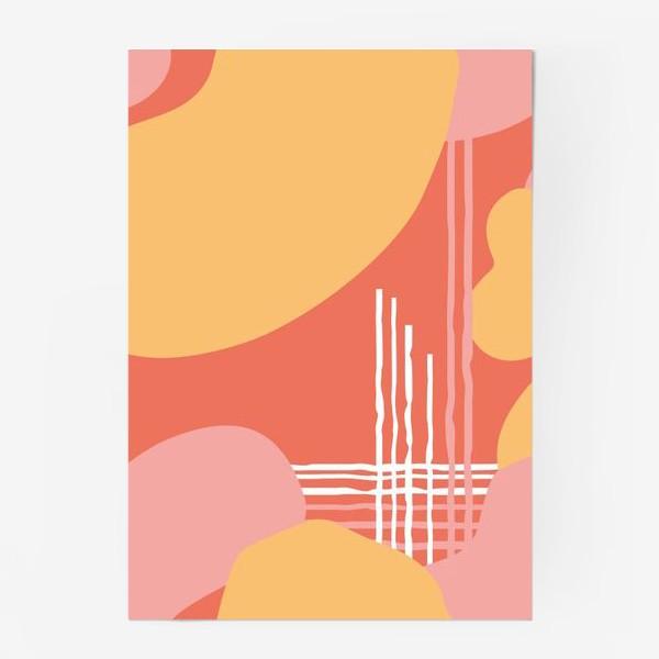 Постер «абстрактный фон пятна и линии»