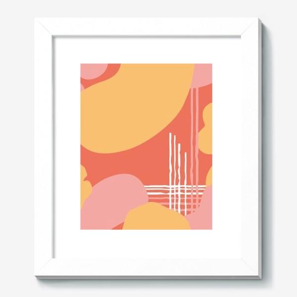 Картина «абстрактный фон пятна и линии»