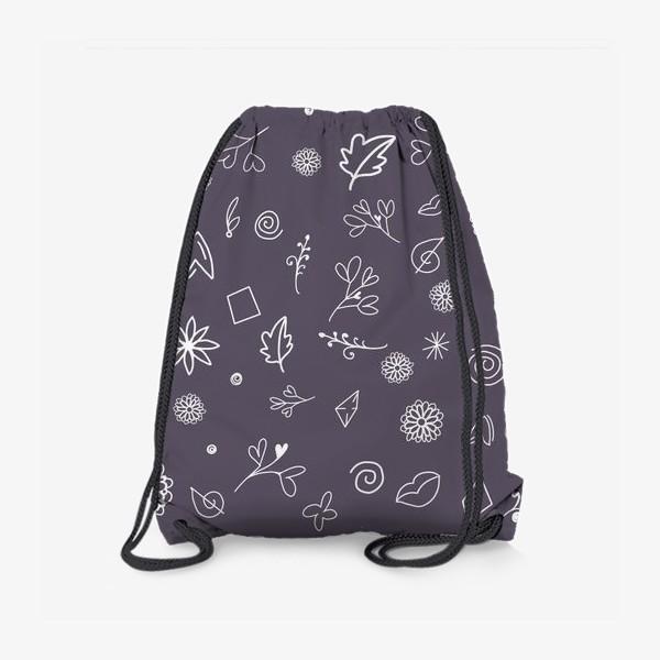 Рюкзак «Орнамент - каракули. Антрацит»