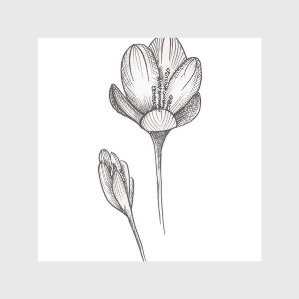Скатерть «Скетч цветок2»