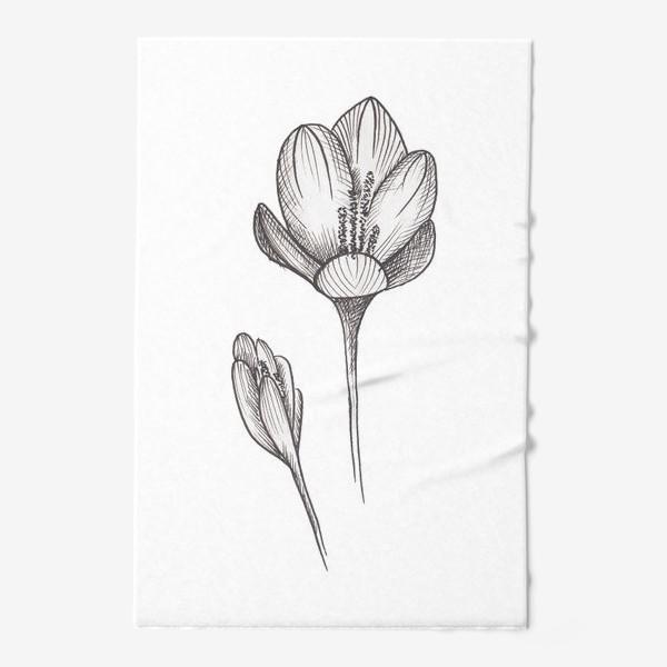 Полотенце «Скетч цветок2»