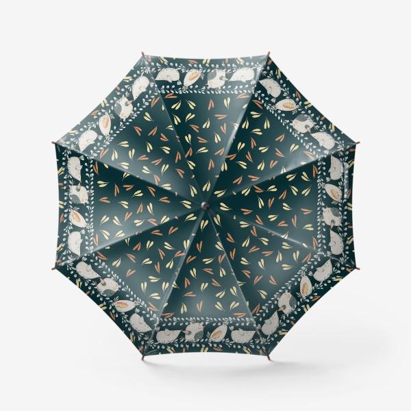 Зонт «птицы и травы»