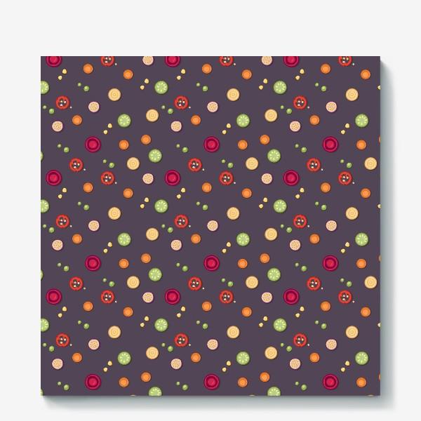 Холст «vegetable pattern»