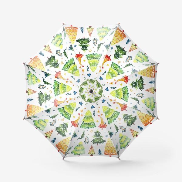 Зонт «Акварельные Ёлочки»