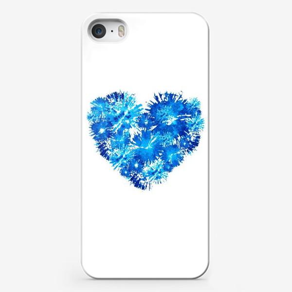 Чехол iPhone «Сердце из васильков абстракция»