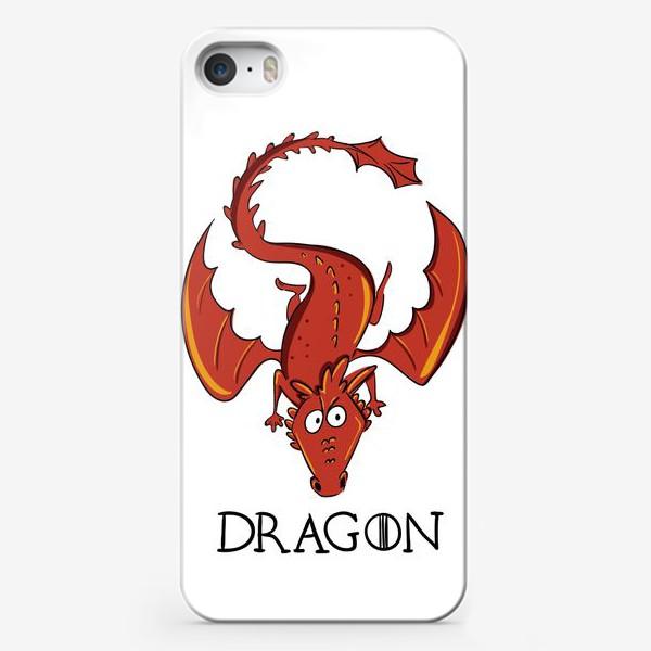 Чехол iPhone «Дракон красный»