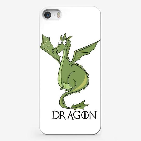 Чехол iPhone «Дракон зеленый»