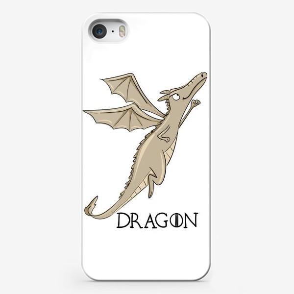 Чехол iPhone «Дракон бежевый»