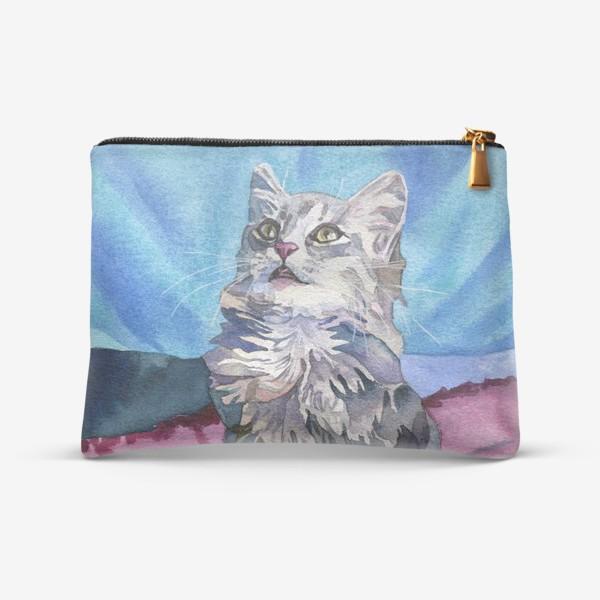 Косметичка «Gray kitten»