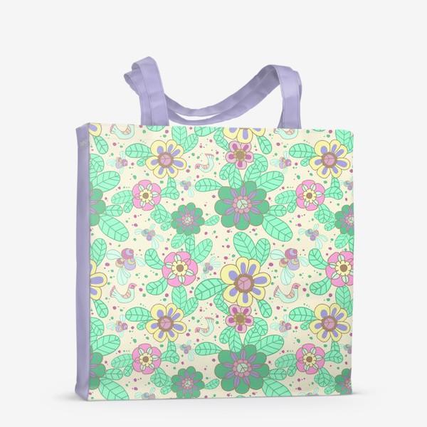 Сумка-шоппер «Цветочный рисунок»