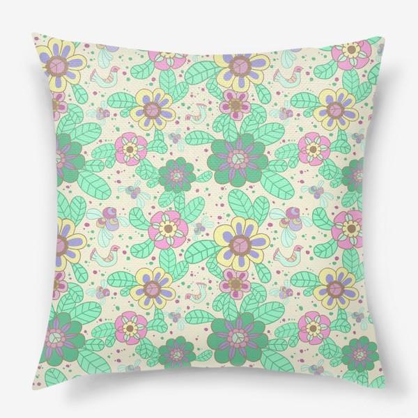 Подушка «Цветочный рисунок»
