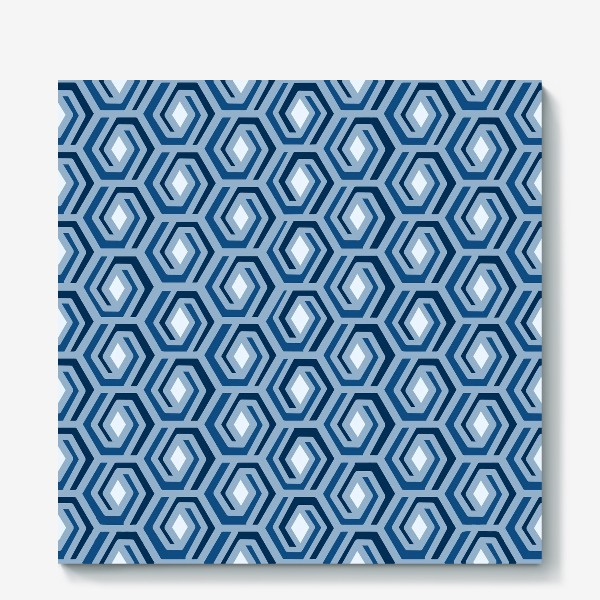 Холст «Синяя геометрия»