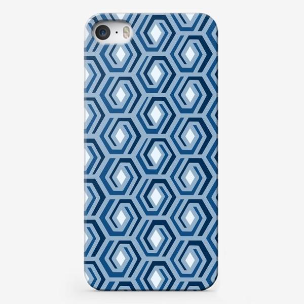 Чехол iPhone «Синяя геометрия»