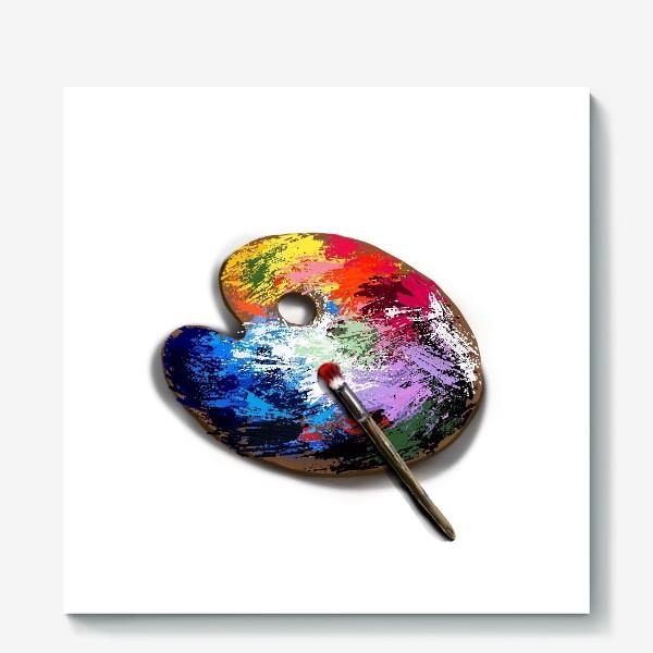 Холст «Палитра с красками»