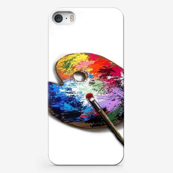 Чехол iPhone «Палитра с красками»