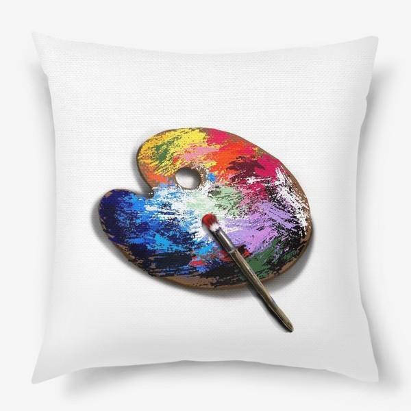 Подушка «Палитра с красками»