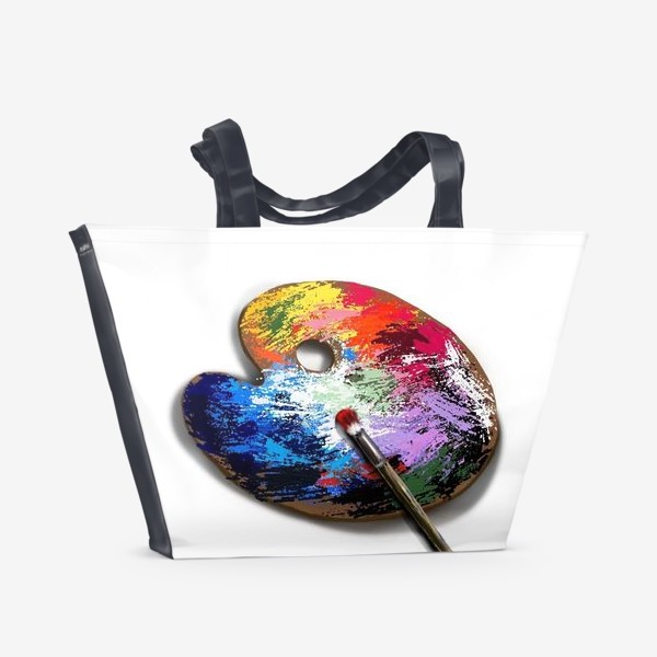 Пляжная сумка «Палитра с красками»