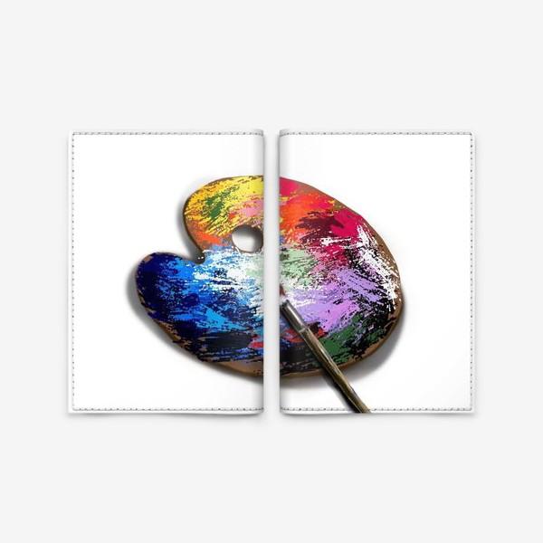 Обложка для паспорта «Палитра с красками»
