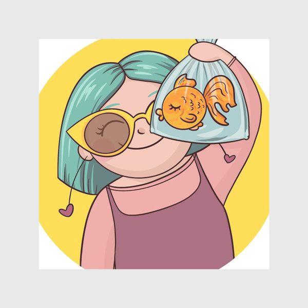 Скатерть «Девочка с рыбкой»