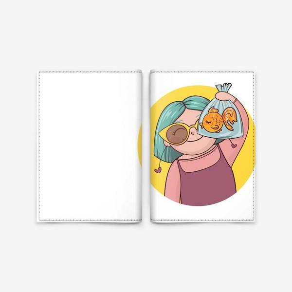 Обложка для паспорта «Девочка с рыбкой»