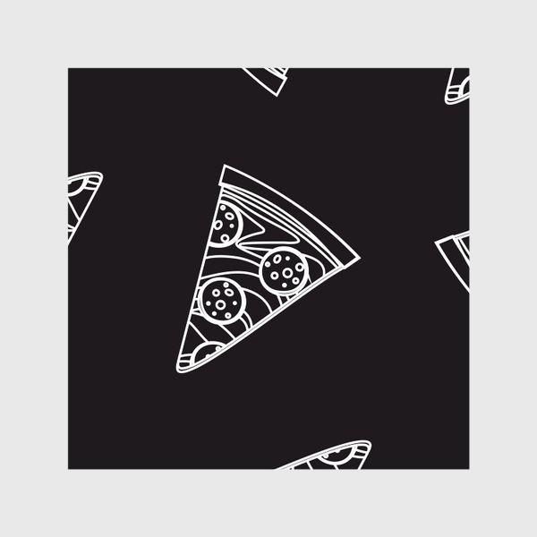 Шторы «Пицца рисунок мелом»