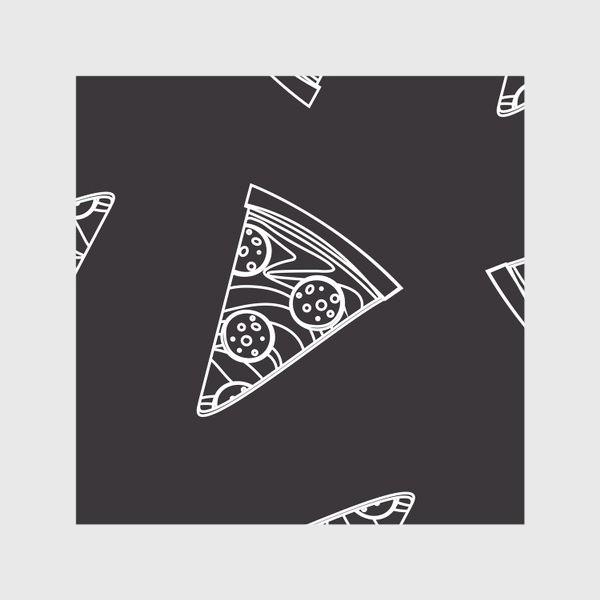 Скатерть «Пицца рисунок мелом»