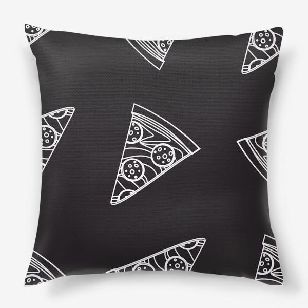 Подушка «Пицца рисунок мелом»