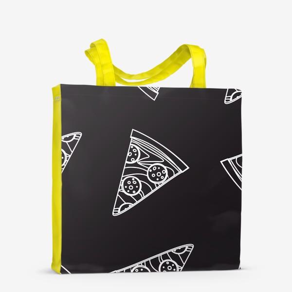 Сумка-шоппер «Пицца рисунок мелом»
