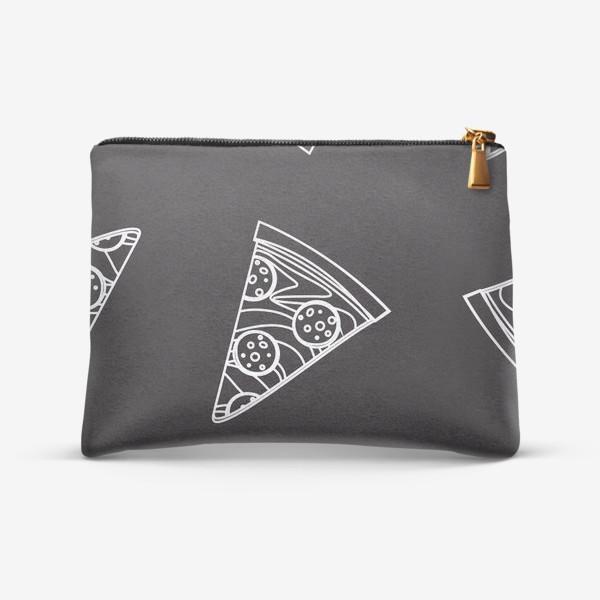 Косметичка «Пицца рисунок мелом»