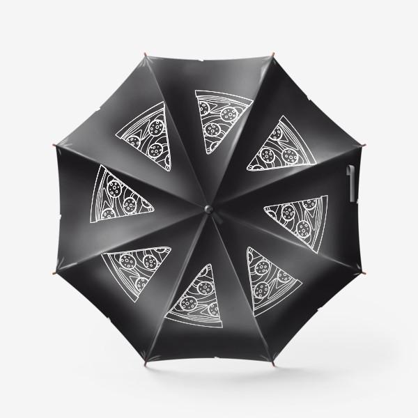 Зонт «Пицца рисунок мелом»