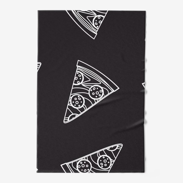 Полотенце «Пицца рисунок мелом»