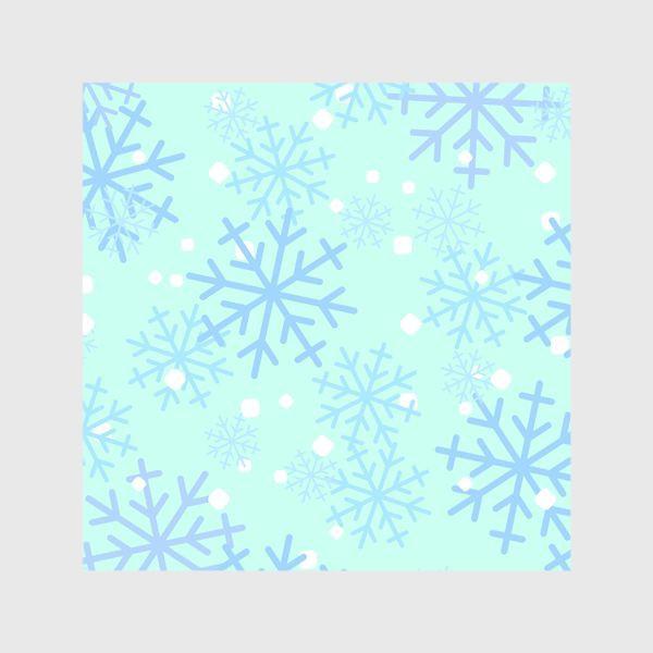 Шторы «Снежинки паттерн»