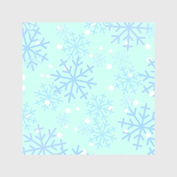 Скатерть «Снежинки паттерн»
