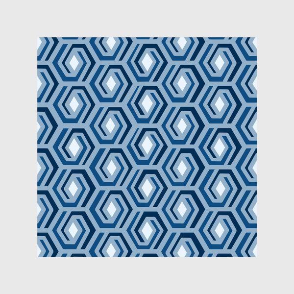 Шторы «Синяя геометрия»