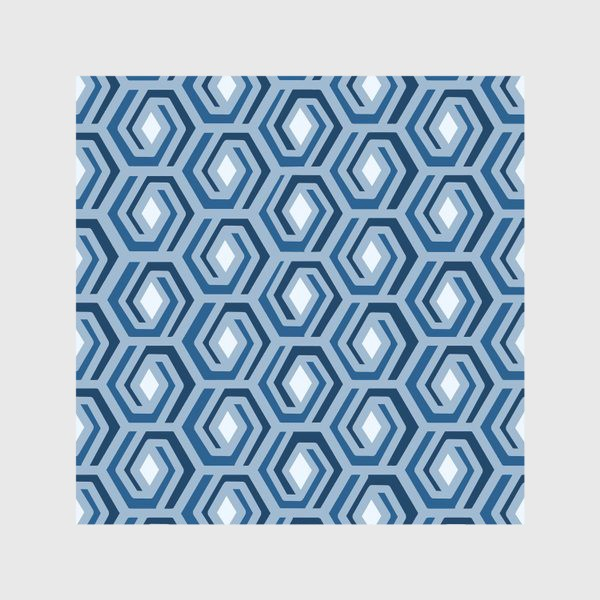 Скатерть «Синяя геометрия»