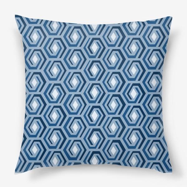 Подушка «Синяя геометрия»