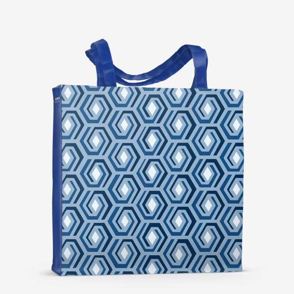Сумка-шоппер «Синяя геометрия»