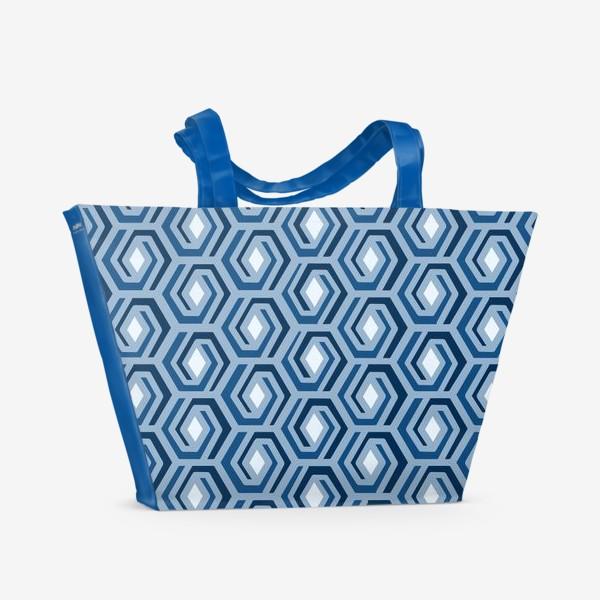 Пляжная сумка «Синяя геометрия»