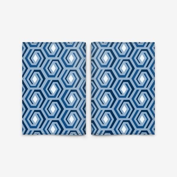 Обложка для паспорта «Синяя геометрия»