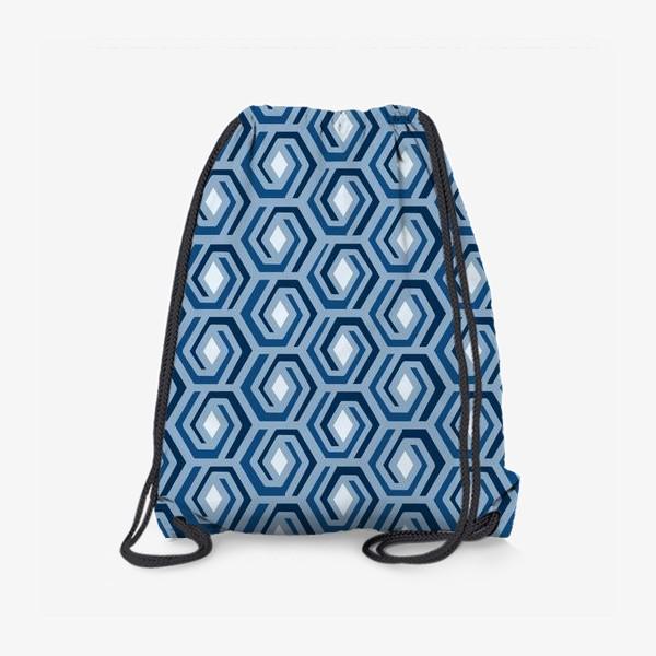 Рюкзак «Синяя геометрия»