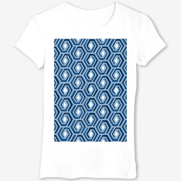 Футболка «Синяя геометрия»